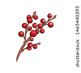 christmas berry holly or ilex....   Shutterstock .eps vector #1465440395