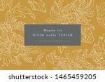 vintage card with chrysanthemum ... | Shutterstock .eps vector #1465459205