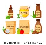 set of different natural... | Shutterstock .eps vector #1465463402
