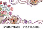 decorative frame  with bright... | Shutterstock .eps vector #1465466888