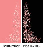 blooming cherry tree branches... | Shutterstock .eps vector #1465467488