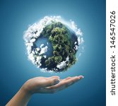 planet earth in hands | Shutterstock . vector #146547026