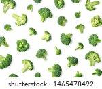 Fresh Broccoli Pattern Isolated ...