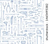 monochrome seamless pattern... | Shutterstock .eps vector #1465495382