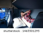 Truck Cabin Interior With...