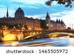 Paris Seen By Night. The Bridg...