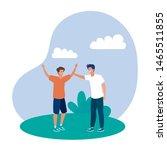 happy young men friends...   Shutterstock .eps vector #1465511855
