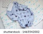 folded cozy fleece baby boy... | Shutterstock . vector #1465542002