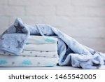 folded cozy fleece baby boy... | Shutterstock . vector #1465542005