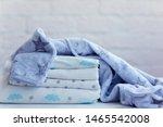 folded cozy fleece baby boy... | Shutterstock . vector #1465542008