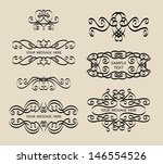 vintage calligraphy decoration... | Shutterstock .eps vector #146554526