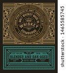 vintage label for liquor design | Shutterstock .eps vector #1465585745