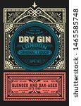 vintage label for liquor design   Shutterstock .eps vector #1465585748