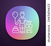 immigrant child app icon. kid...