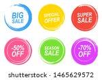vector set of vintage colorful... | Shutterstock .eps vector #1465629572