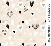 seamless childish pattern with... | Shutterstock .eps vector #1465632902