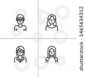 avatar  human  people lineal... | Shutterstock .eps vector #1465634312