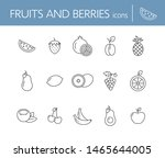 fruits and berries icons. set...   Shutterstock .eps vector #1465644005