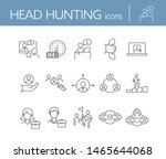 head hunting line icon set....   Shutterstock .eps vector #1465644068