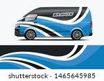company car wrap. wrap design... | Shutterstock .eps vector #1465645985