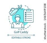 Golf Caddy Concept Icon. Sport...