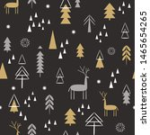 seamless christmas pattern.... | Shutterstock .eps vector #1465654265