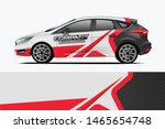 company branding car decal wrap ... | Shutterstock .eps vector #1465654748