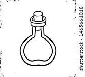 lab bottle icon. halloween icon.... | Shutterstock .eps vector #1465661018