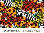 animal skin print leopard ... | Shutterstock .eps vector #1465677428