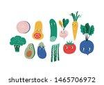 summer print in modern style... | Shutterstock .eps vector #1465706972