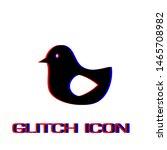 bird icon flat. simple... | Shutterstock .eps vector #1465708982