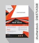 abstract flyer brochure design  ... | Shutterstock .eps vector #1465714268