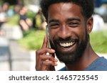 beautiful happy black man...   Shutterstock . vector #1465725545