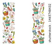 vector pattern with easter and... | Shutterstock .eps vector #1465748432