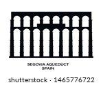 Aqueduct Of Segovia  Spain...