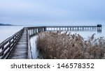 Trasimeno Lake Wood Bridge Wit...