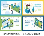 set of isometric concepts... | Shutterstock .eps vector #1465791035
