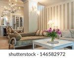 vintage mansion   a beige... | Shutterstock . vector #146582972