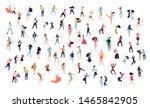 crowd of young people dancing... | Shutterstock .eps vector #1465842905