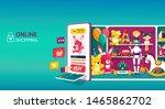 online shopping for kids toys...   Shutterstock .eps vector #1465862702