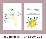 vector cards with flowers... | Shutterstock .eps vector #1465894235