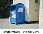 Small photo of Clothing donation container for public drop off