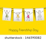 happy friendship day concept on ... | Shutterstock .eps vector #146590082