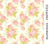 seamless pattern with vintage... | Shutterstock .eps vector #146591312