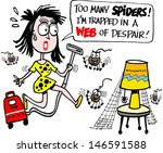 vector cartoon of angry woman... | Shutterstock .eps vector #146591588