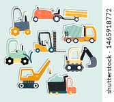 set of funny transport stickers.... | Shutterstock .eps vector #1465918772