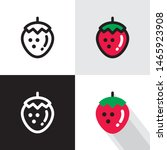 strawberry   vector icons in... | Shutterstock .eps vector #1465923908