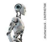 Smart Handsome Robot Man Torso...