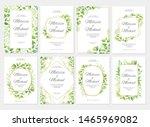 wedding invitation with green... | Shutterstock .eps vector #1465969082