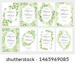 wedding invitation with green... | Shutterstock .eps vector #1465969085